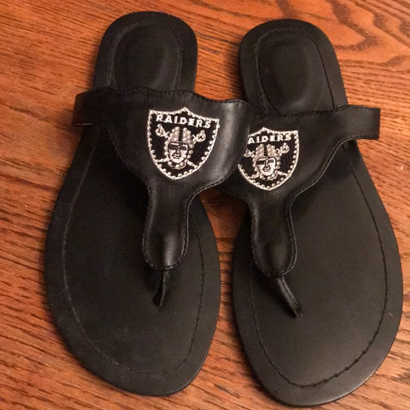 NFL Shoes - Woman's Oakland Raiders Sandals